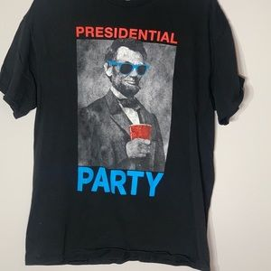 Presidential Party Lincoln Party Shirt Large